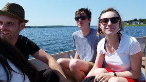On the boat to Chapel Island.
