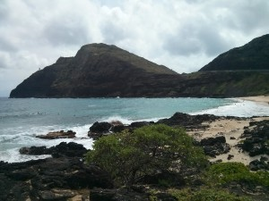 Makapuʻu point and beach.